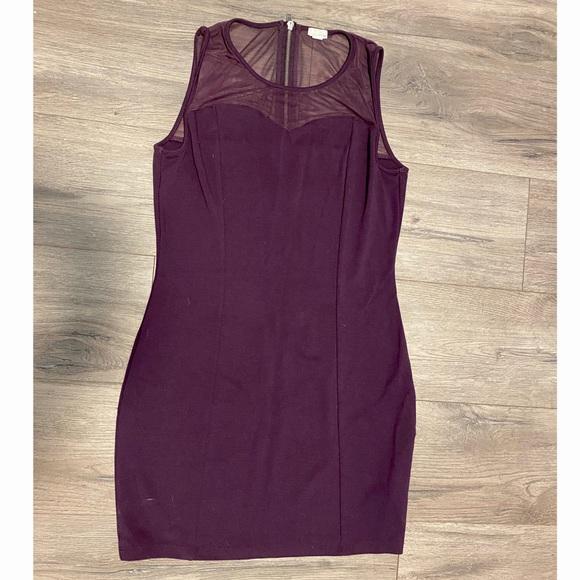 Garage Bodycon Dress Purple size L